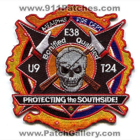 Memphis Fire Department Engine 38 Truck 24 Unit 9 Patch Tennessee TN