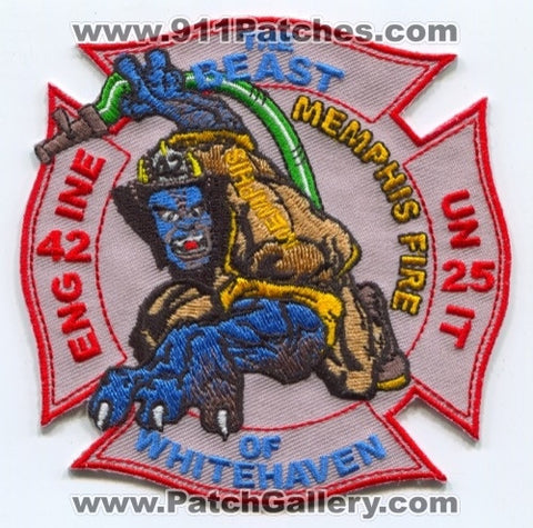 Memphis Fire Department Engine 42 Unit 25 Patch Tennessee TN
