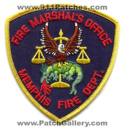 Memphis Fire Department Fire Marshals Office Patch Tennessee TN