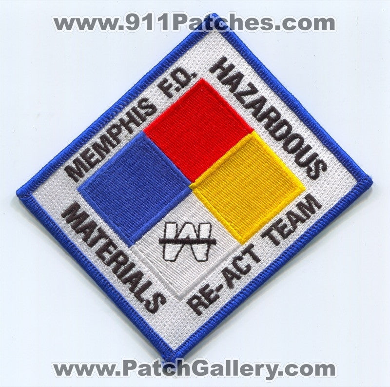 Memphis Fire Department Hazardous Materials Re-Act Team Patch Tennessee TN