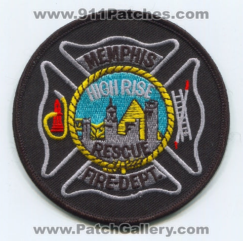 Memphis Fire Department Highrise Rescue Patch Tennessee TN
