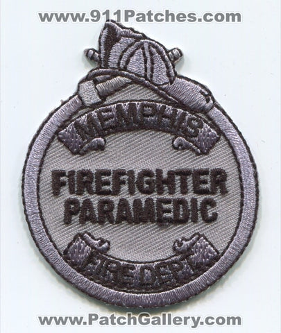 Memphis Fire Department Firefighter Paramedic Patch Tennessee TN