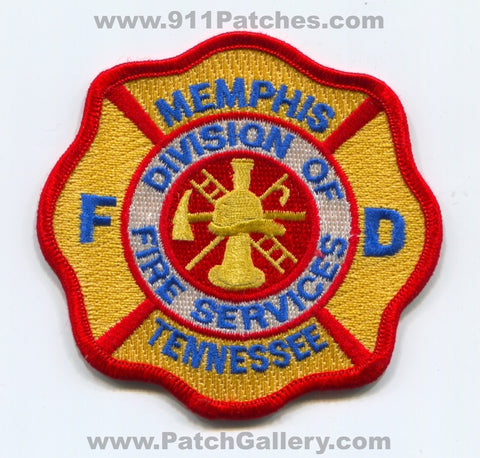 Memphis Fire Department Division of Fire Services Patch Tennessee TN