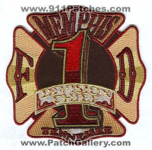 Memphis Fire Department Division Chief 1 Patch Tennessee TN