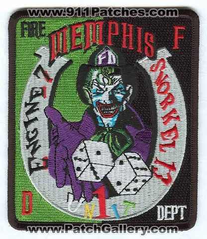 Memphis Fire Department Engine 7 Snorkel 13 Unit 1 Patch Tennessee TN