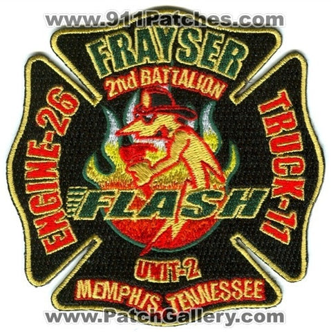 Memphis Fire Department Engine 26 Truck 11 2nd Battalion Unit 2 Patch Tennessee TN