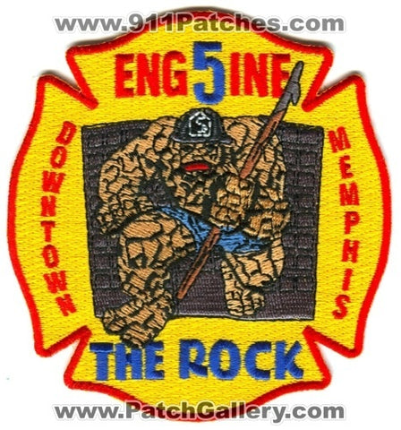 Memphis Fire Department Engine 5 Patch Tennessee TN