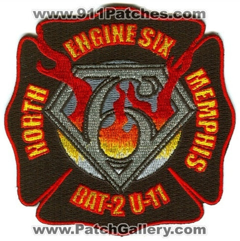 Memphis Fire Department Engine 6 Battalion 2 Unit 11 Patch Tennessee TN