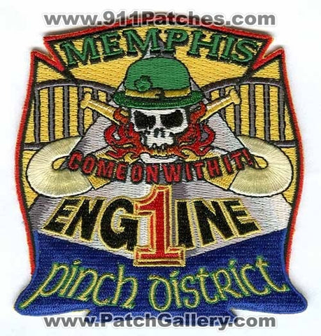 Memphis Fire Department Engine 1 Patch Tennessee TN