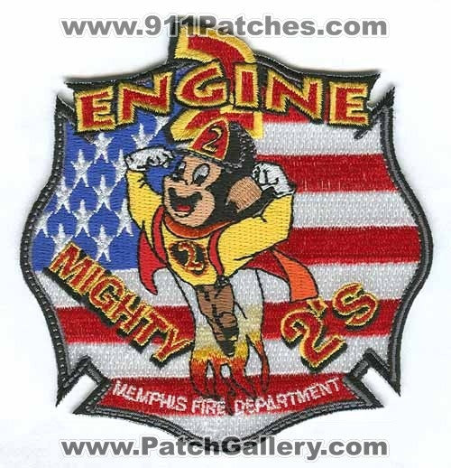 Memphis Fire Department Engine 2 Patch Tennessee TN
