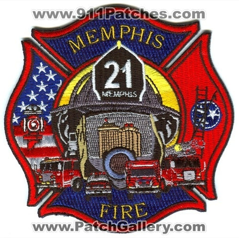 Memphis Fire Department Engine 21 Patch Tennessee TN