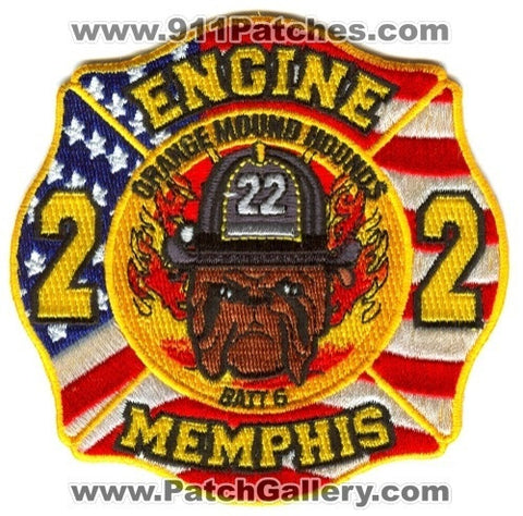 Memphis Fire Department Engine 22 Battalion 6 Patch Tennessee TN
