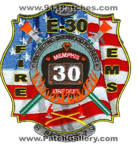Memphis Fire Department Engine 30 Battalion 7 Patch Tennessee TN