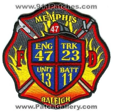 Memphis Fire Department Engine 47 Truck 23 Unit 13 Battalion 11 Patch Tennessee TN