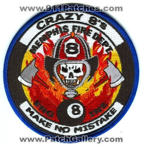 Memphis Fire Department Engine 8 Patch Tennessee TN