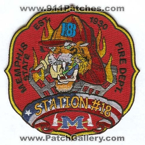 Memphis Fire Department Station 18 Patch Tennessee TN