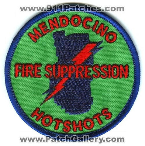 Mendocino HotShots Fire Suppression Forest Fire Wildfire Wildland Patch California CA