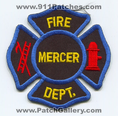 Mercer Fire Department Patch Missouri MO