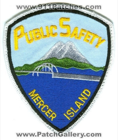 Mercer Island Public Safety Department DPS Fire Police Patch Washington WA