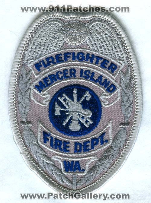 Mercer Island Fire Department FireFighter Patch Washington WA