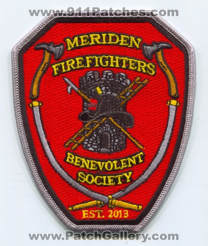 Meriden Fire Department Firefighters Benevolent Society Patch Connecticut CT