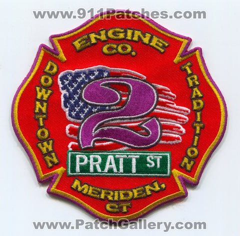Meriden Fire Department Engine Company 2 Patch Connecticut CT