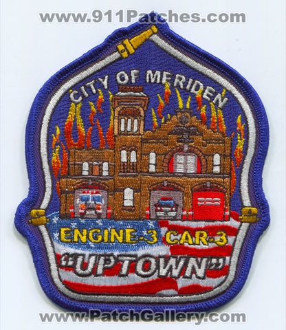 Meriden Fire Department Station 3 Patch Connecticut CT