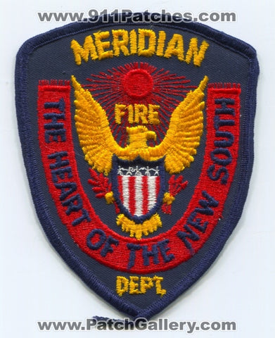 Meridian Fire Department Patch Mississippi MS