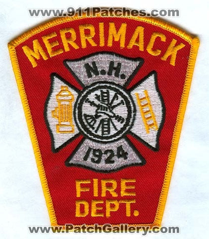 Merrimack Fire Department Patch New Hampshire NH