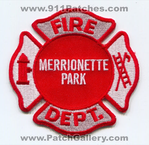 Merrionette Park Fire Department Patch Illinois IL