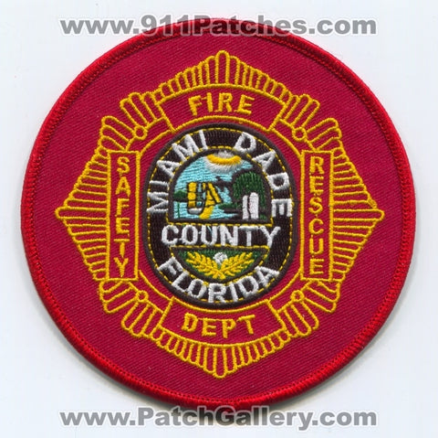 Miami Dade County Fire Department Patch Florida FL
