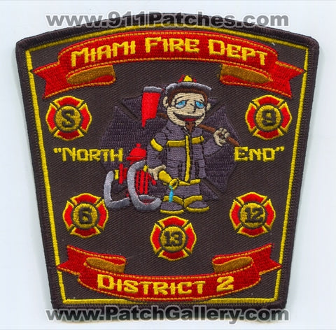 Miami Fire Rescue Department District 2 Patch Florida FL