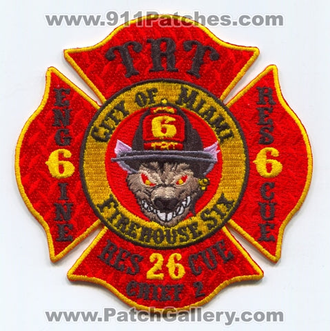 Miami Fire Rescue Department Station 6 Patch Florida FL