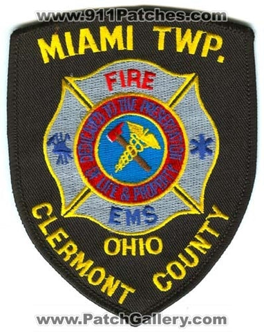 Miami Township Fire Department Clermont County Patch Ohio OH