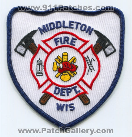 Middleton Fire Department Patch Wisconsin WI