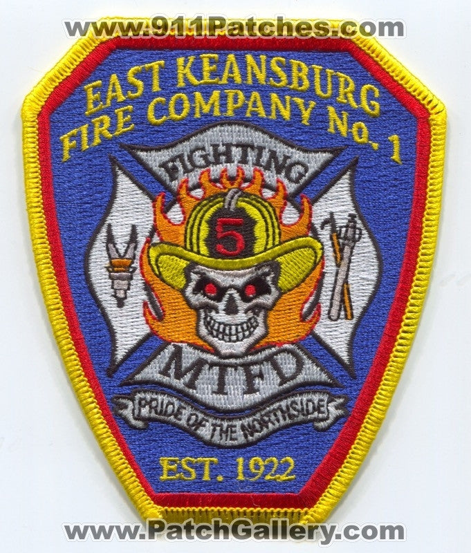 Middletown Township Fire Department East Keansburg Fire Company Number 1 Station 5 Patch New Jersey NJ