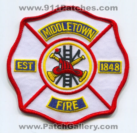 Middletown Fire Department Patch Connecticut CT