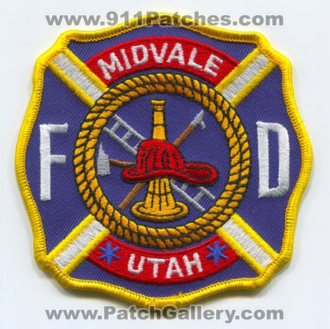 Midvale Fire Department Patch Utah UT