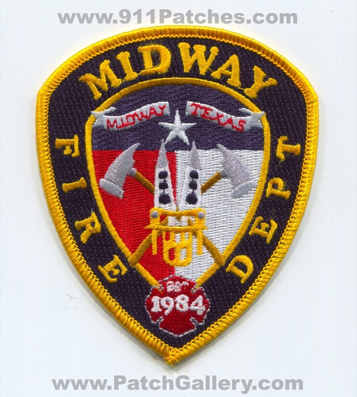 Midway Fire Department Patch Texas TX