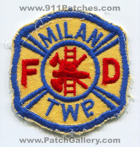 Milan Township Fire Department Patch Ohio OH