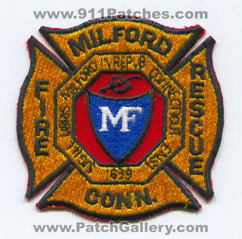 Milford Fire Rescue Department Patch Connecticut CT