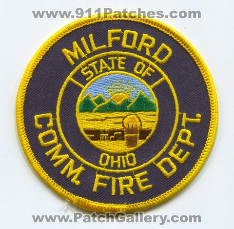 Milford Community Fire Department Patch Ohio OH