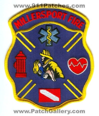Millersport Fire Department Patch Ohio OH