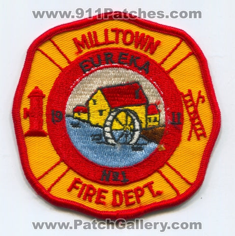 Milltown Fire Department Eureka Number 1 Patch New Jersey NJ