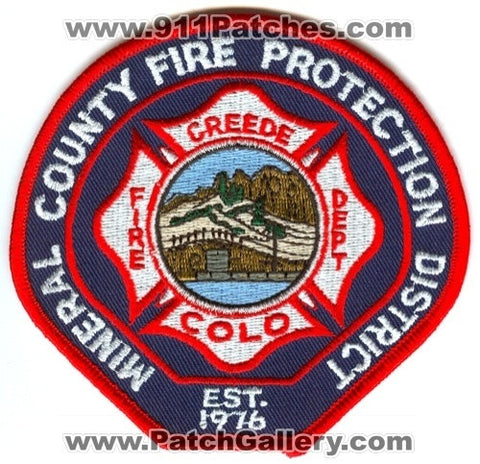 Mineral County Fire Protection District Creede Fire Department Patch Colorado CO