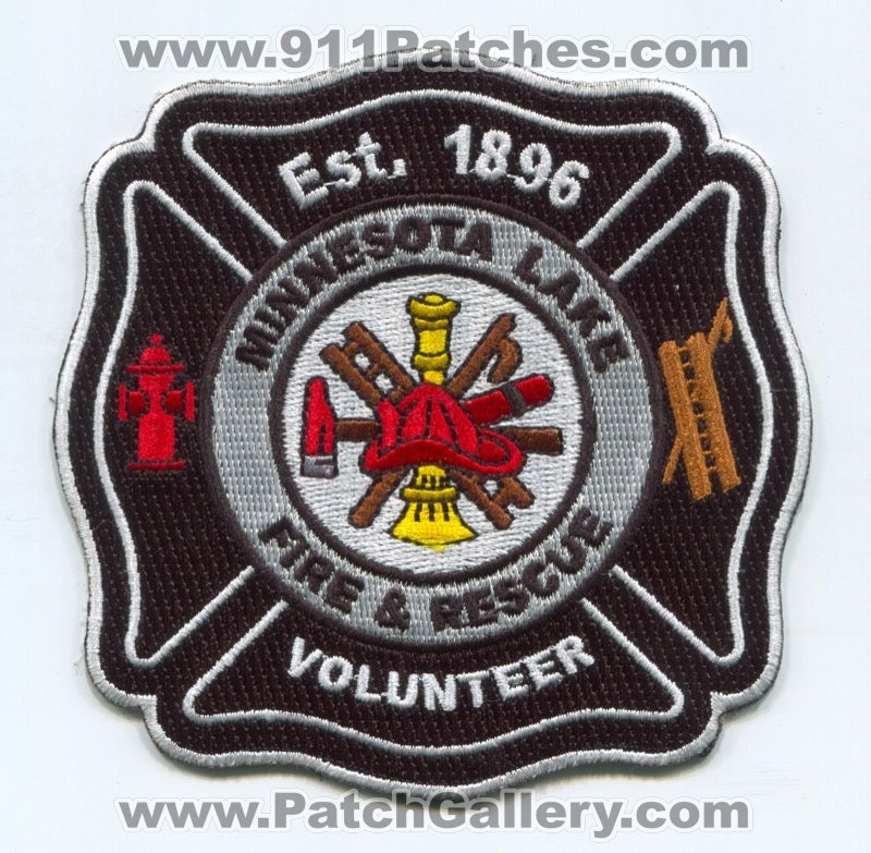 Minnesota Lake Volunteer Fire and Rescue Department Patch Minnesota MN