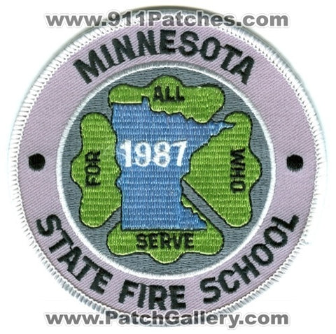 Minnesota State Fire School 1987 Academy Patch Minnesota MN