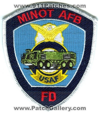 Minot Air Force Base AFB Fire Department USAF Military Patch North Dakota ND
