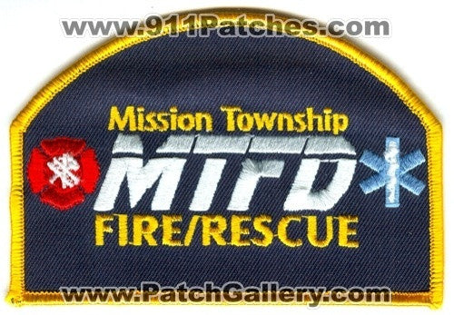 Mission Township Fire Rescue Department Patch Minnesota MN