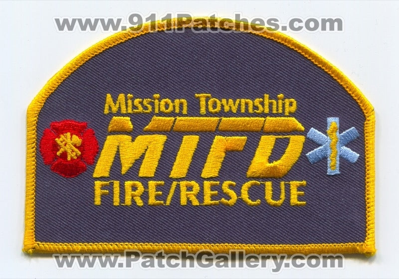 Mission Township Fire Rescue Department Patch Kansas KS